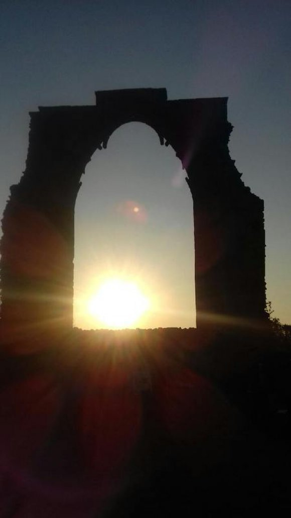 Dale Abbey Arch at Dawn
